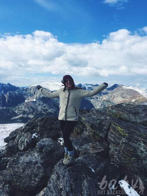 hiking woman rocky mountain national park colorado