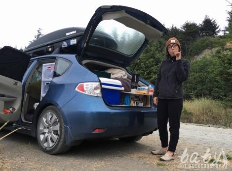 subaru impreza build out camper van life