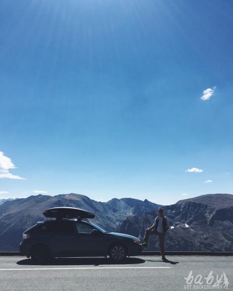 subaru rocky mountains yakima box road trip