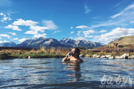 Oh so lonely in a hot spring in Idaho...